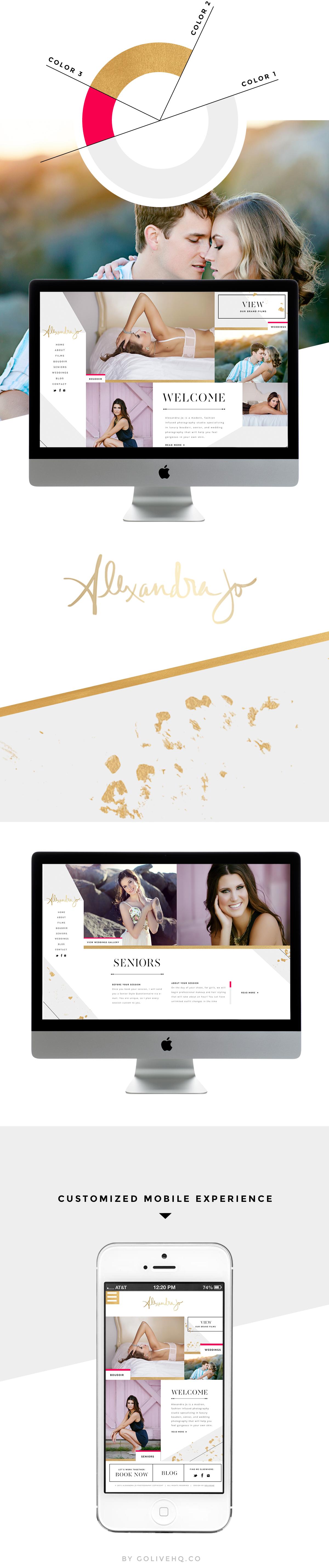 fashion website design - by golivehq.co
