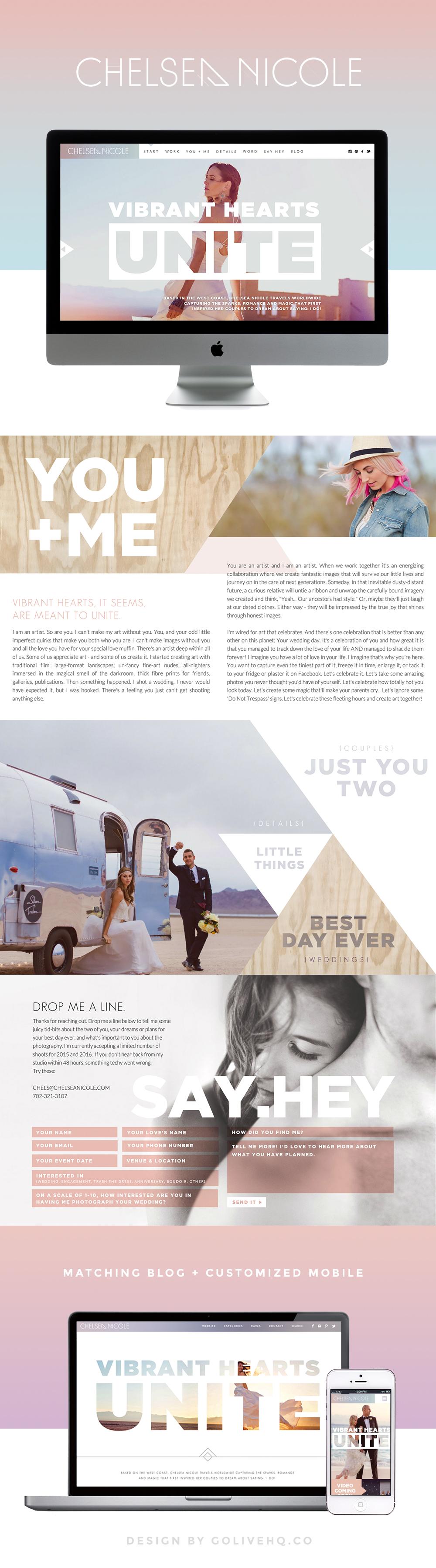 modern bright website design by GOLIVEHQ.CO