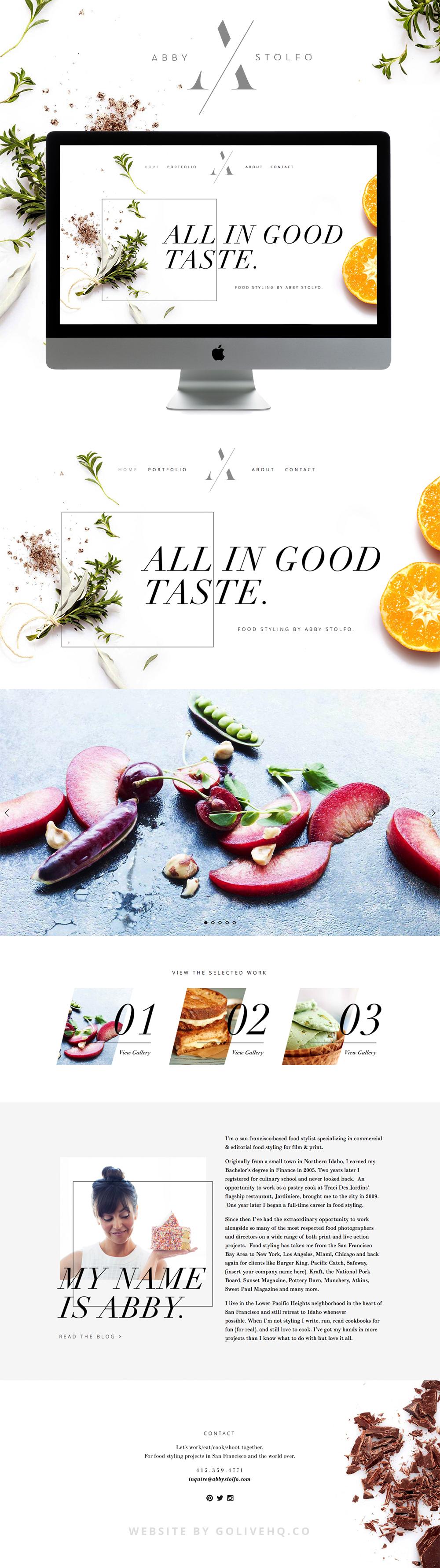 modern food squarespace blog design  |  By GOLIVEHQ.CO