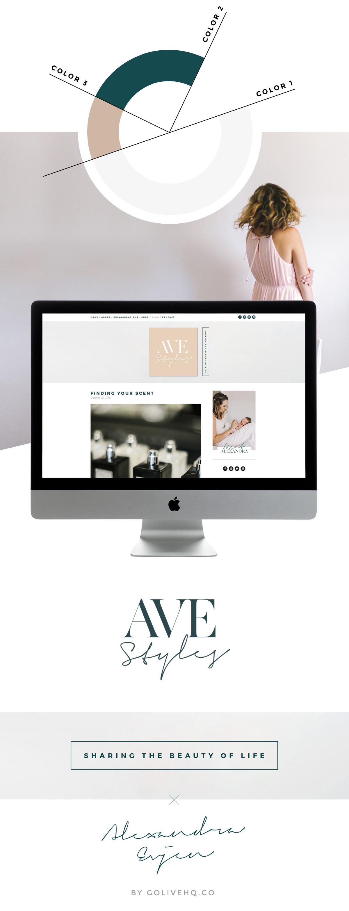 squarespace fashion blog design       by GOLIVEHQ.CO