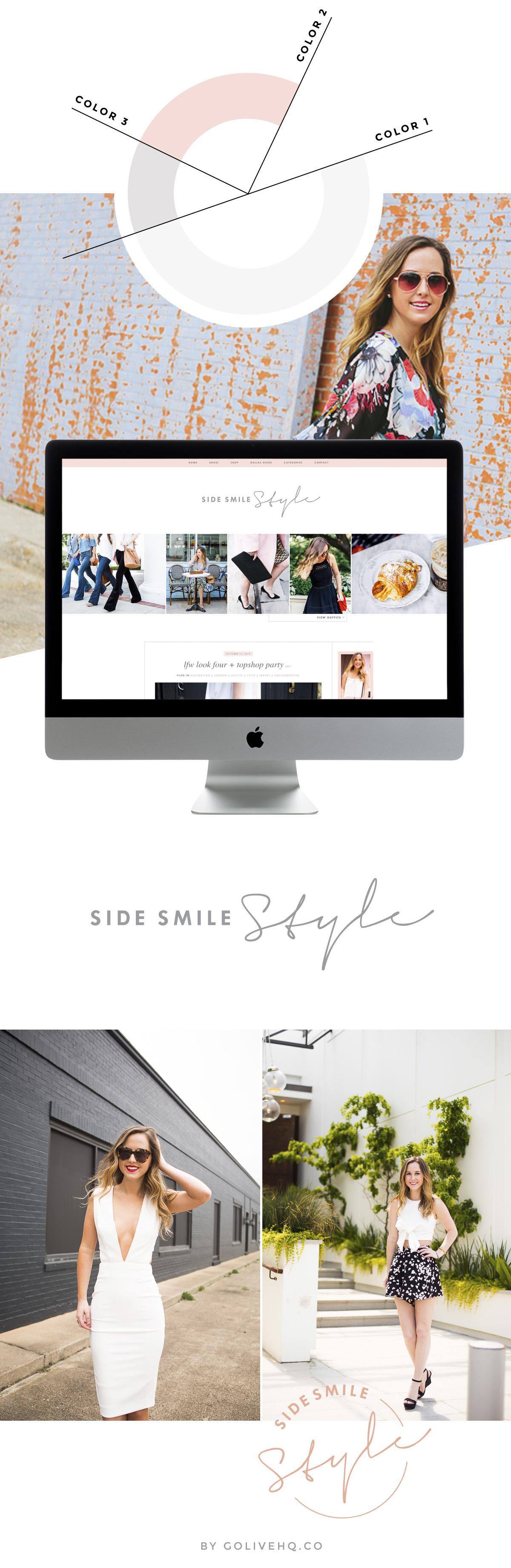 wordpress fashion blog website design     GOLIVEHQ.CO