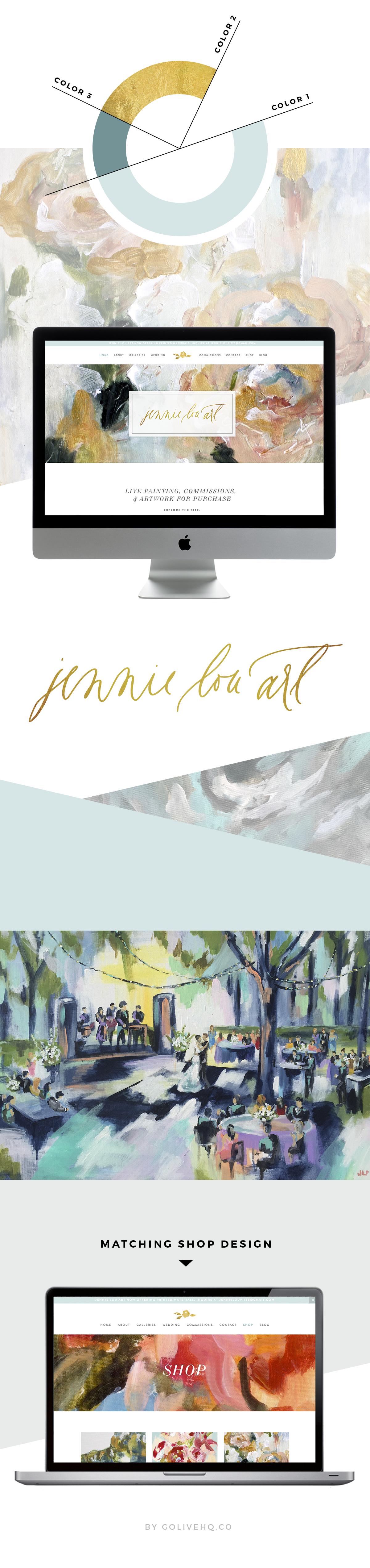 fine art website design   |   by GOLIVEHQ.CO