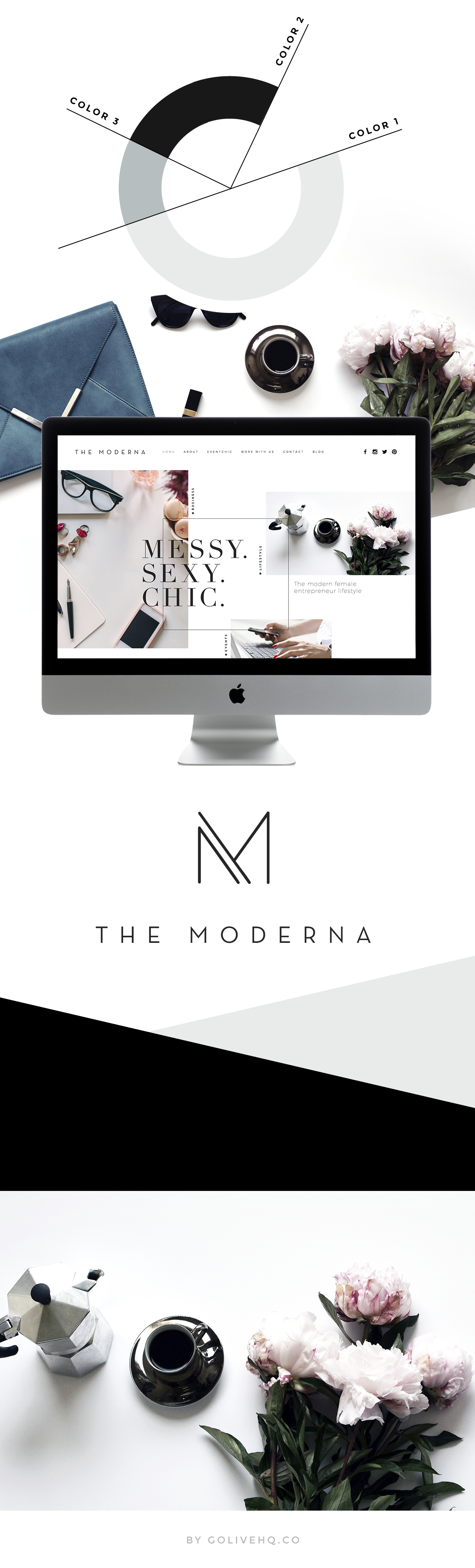 modern squarespace website design | | by GOLIVEHQ.CO