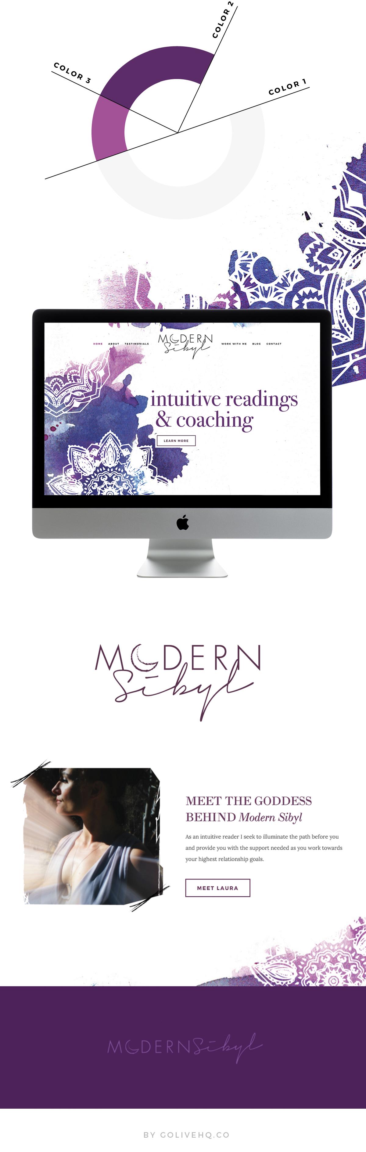 modern bohemian Squarespace website design | by: Go Live HQ