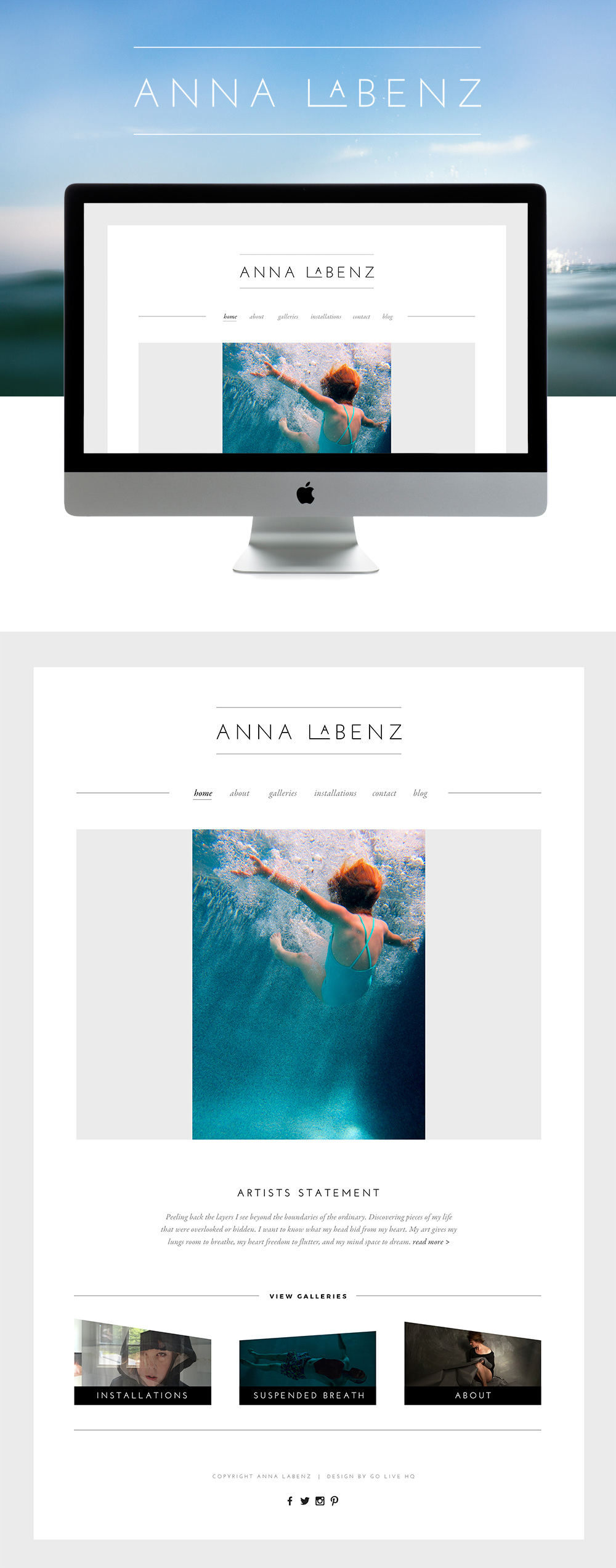 Sophisticated Modern Squarespace Website Design | Design By: Go Live HQ
