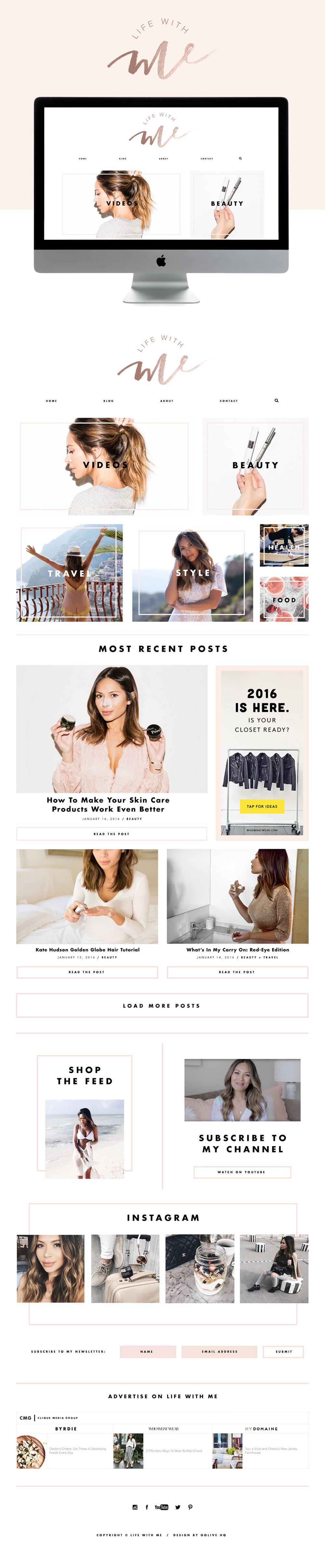 modern wordpress fashion blog design  |  by GOLIVEHQ.CO