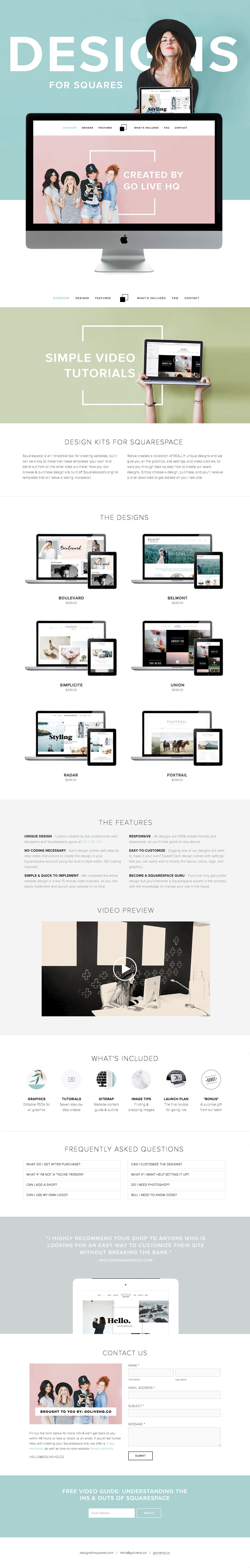 squarespace website themes by golivehq.co