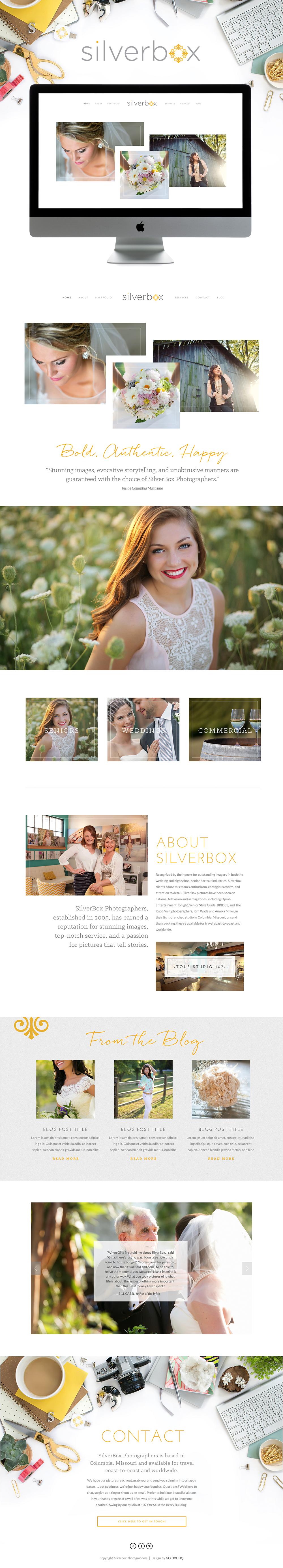 Charming high-end Squarespace website design   Design by: Go Live HQ