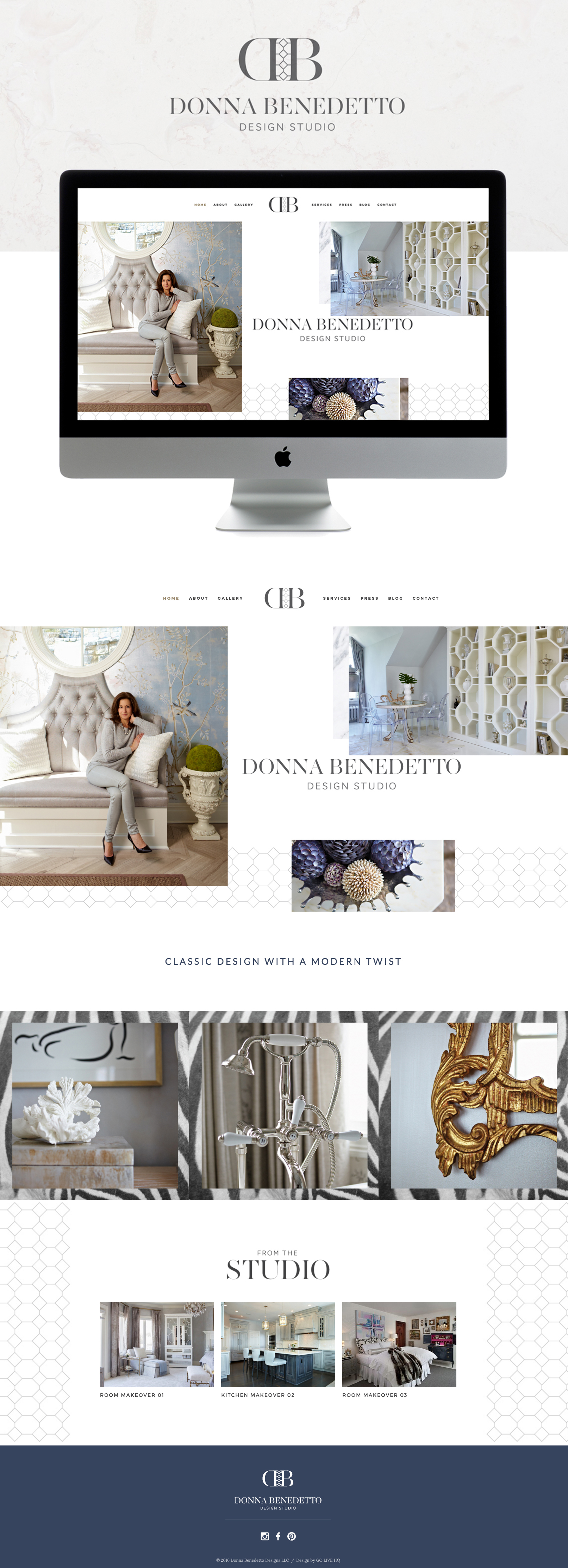 High End Classic Website Design   By: GoLiveHQ.co