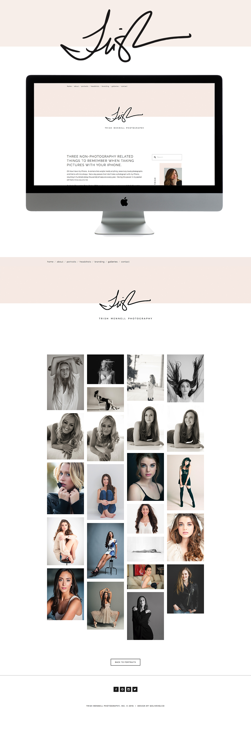 Stylish clean squarespace website design | designed by: golivehq.co