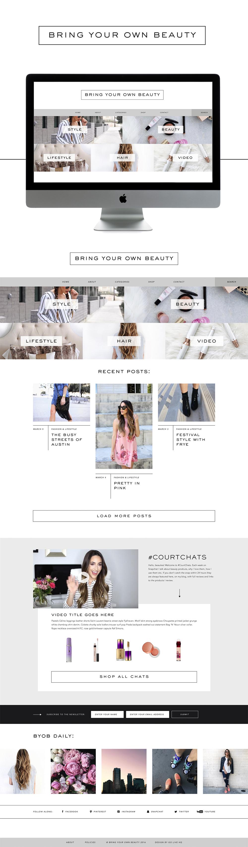 chic editorial wordpress website design | designed by: golivehq.co
