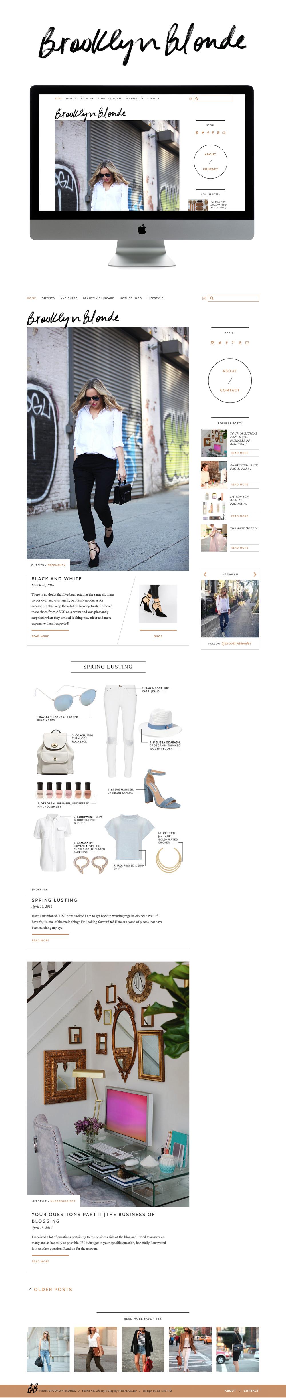 sophisticated wordpress blog design | designed by: golivehq.co