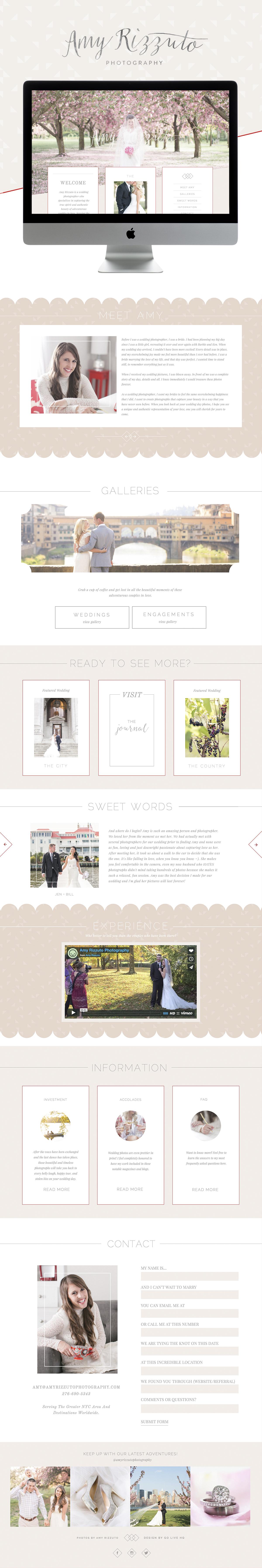 romantic modern showit photography website design | designed by: golivehq.co