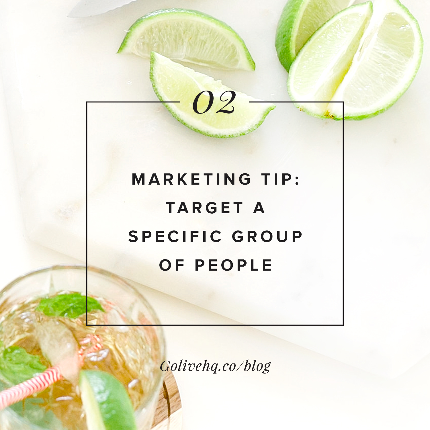 marketing tip: target a specific group of people