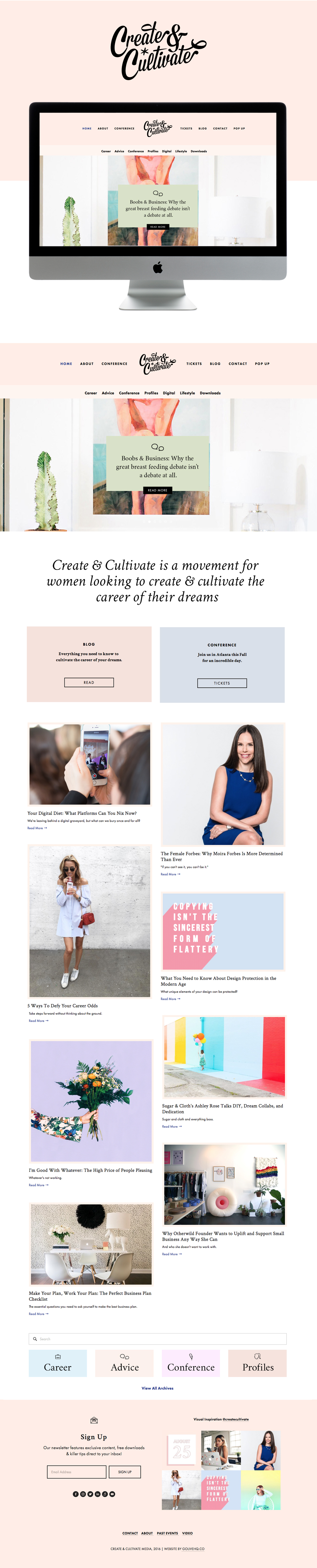 modern pretty squarespace website by GOLIVEHQ.CO