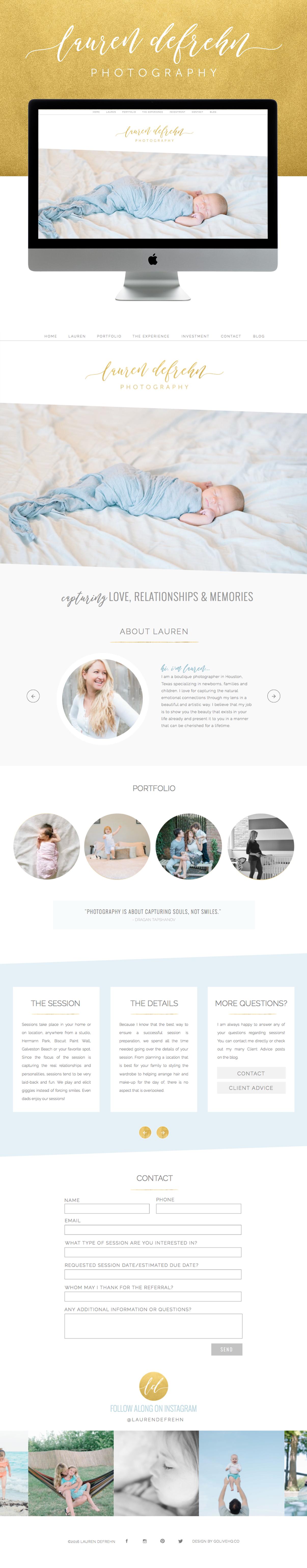 clean and feminine showit website design | designed by: golivehq.co