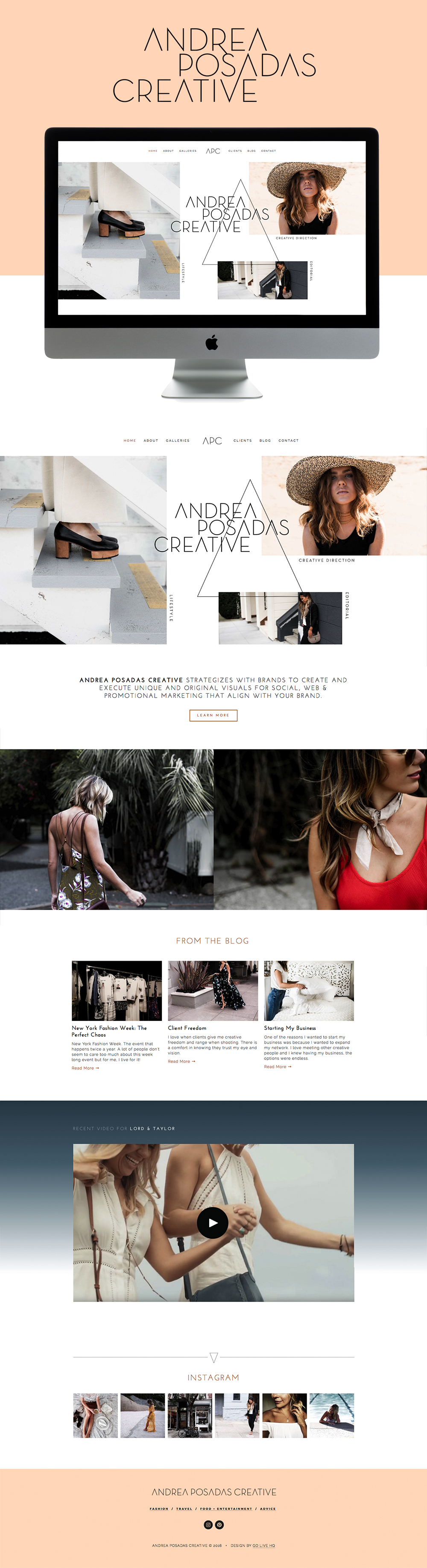 minimal editorial boho squarespace website design | design by: golivehq.co