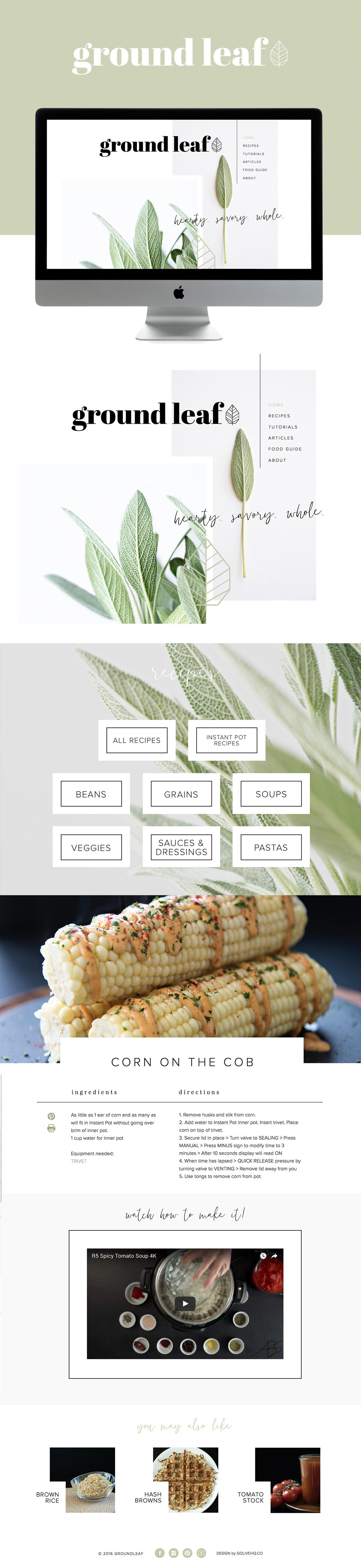 clean modern showit websites design | designed by: golivehq.co