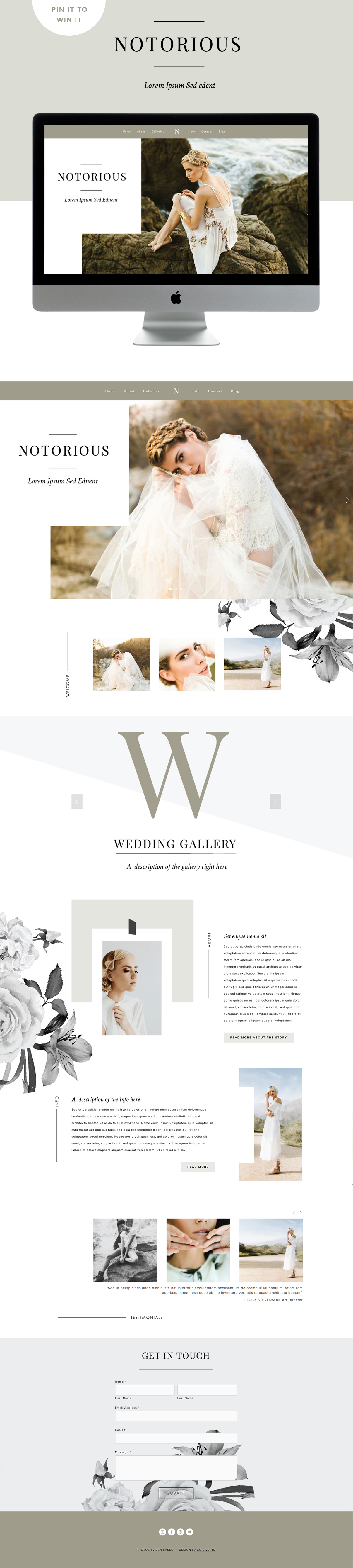 custom squarespace template inspiration
