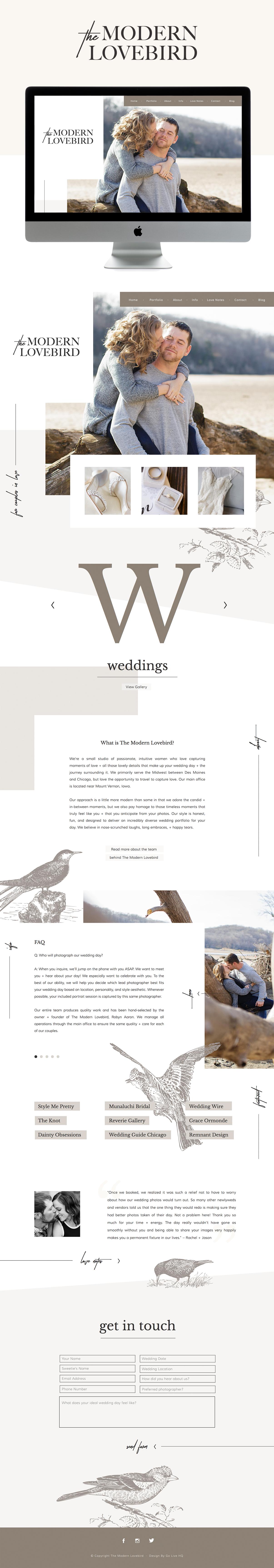 high-end, relatable, fun squarespace website design | design by: golivehq.co