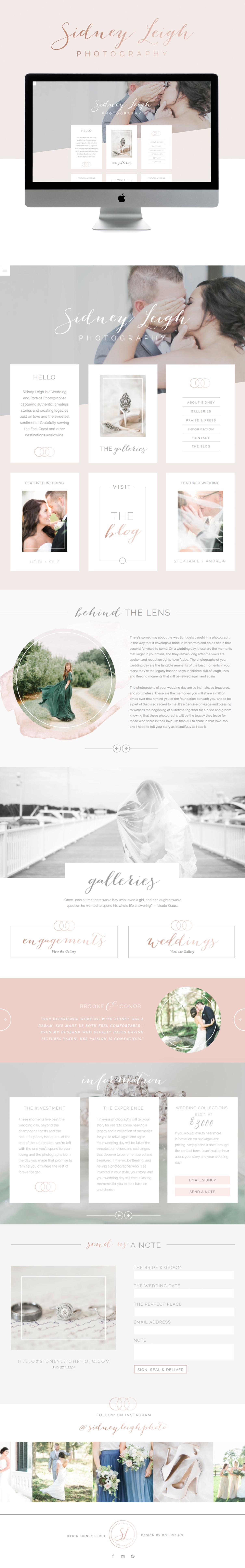 light and timeless squarespace website design | design by; golivehq.co