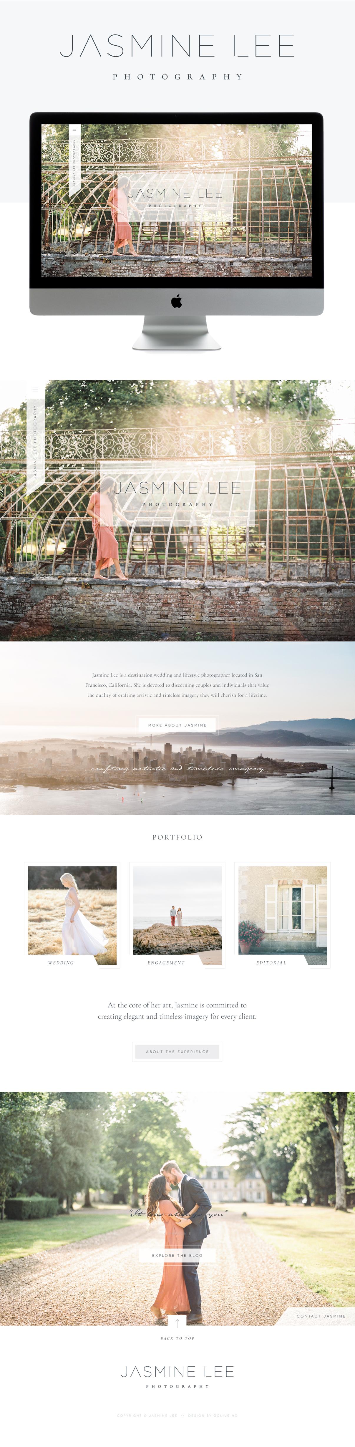 Modern, luxury, clean, chic, mature, feminine, editorial & romantic showit website design | designed by: golivehq.co