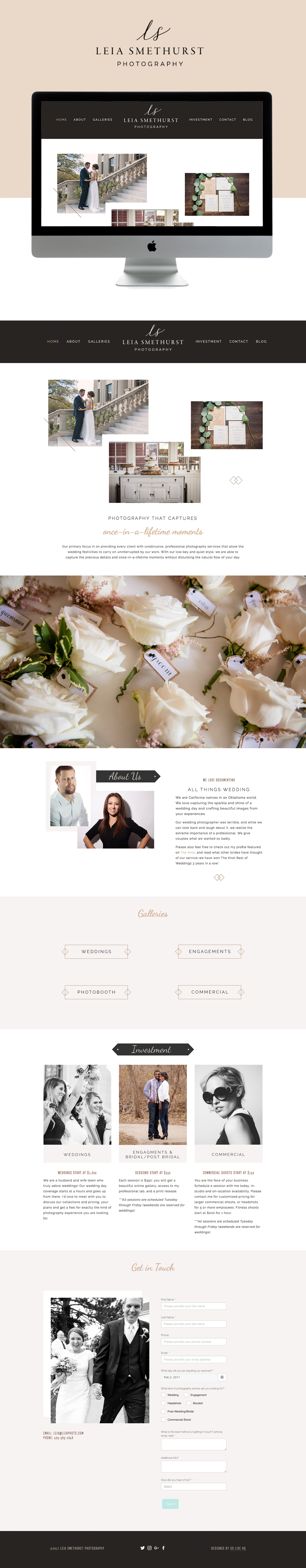 clean, simple, hints of rustic tones squarespace design   designed by: golivehq.co