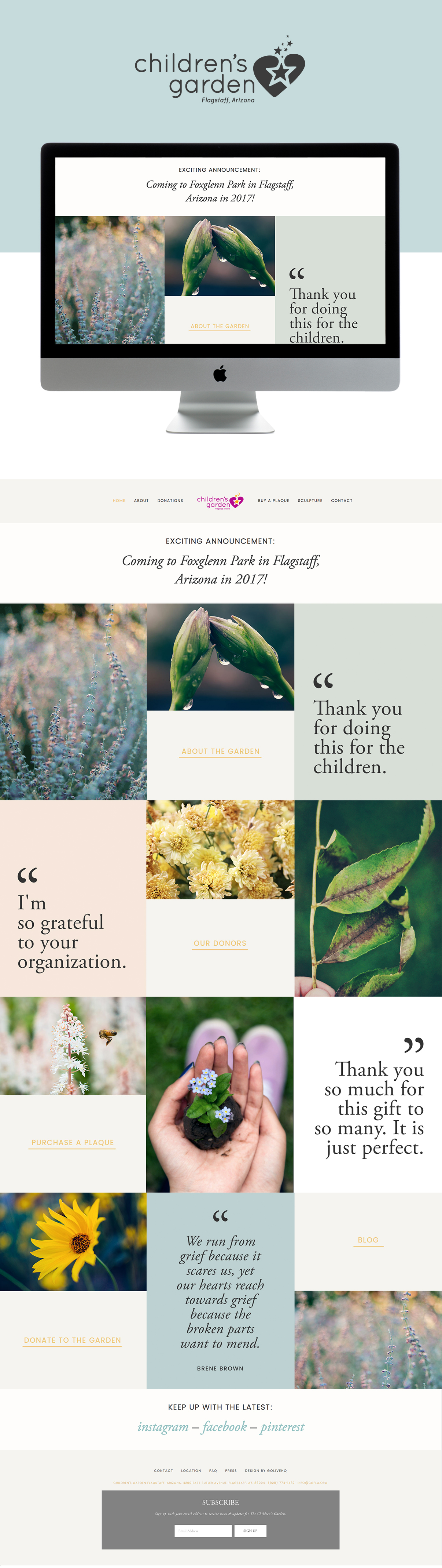 Soft, Inviting, Peaceful Squarespace website design | designed by: golivehq.co