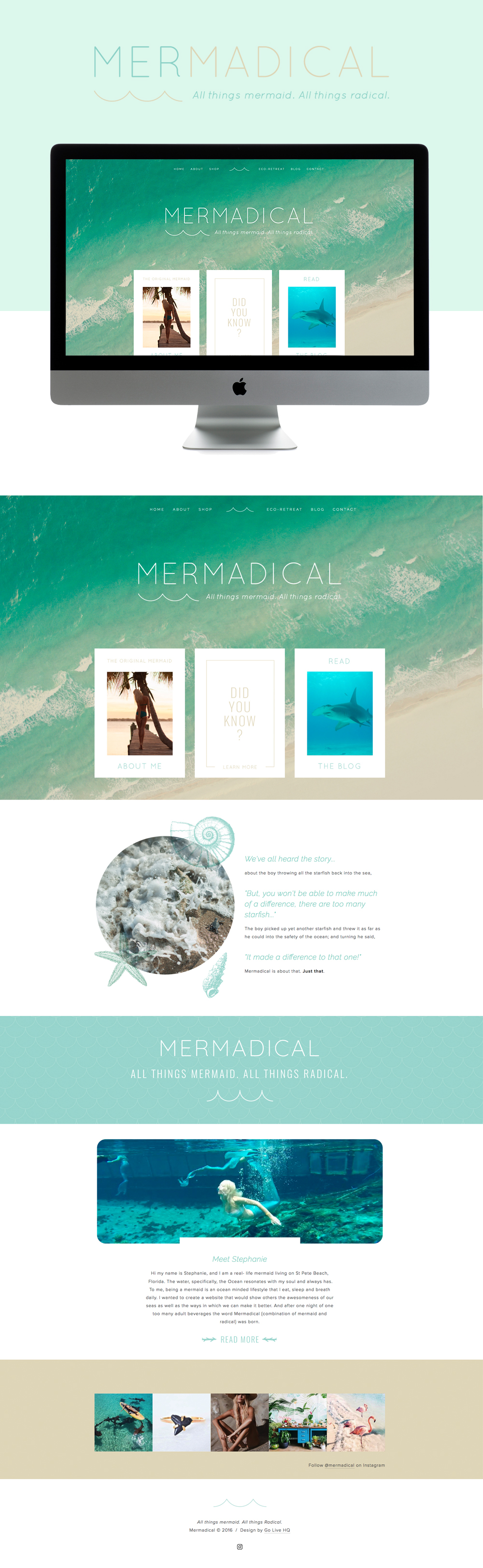 happy, ocean & tranquil squarespace design   designed by: golivehq.co