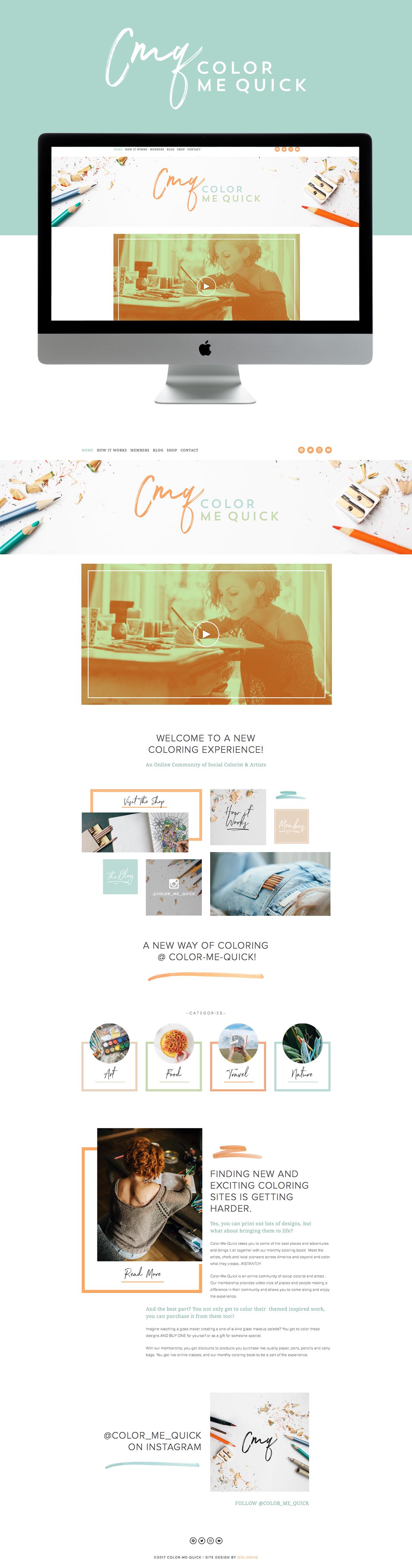colorful, playful & mature Squarespace website design | designed by: golivehq.co
