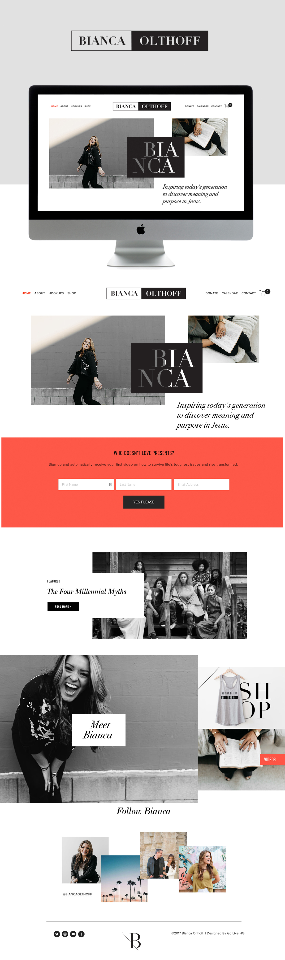 editorial and bold squarespace website design | designed by: golivehq.co