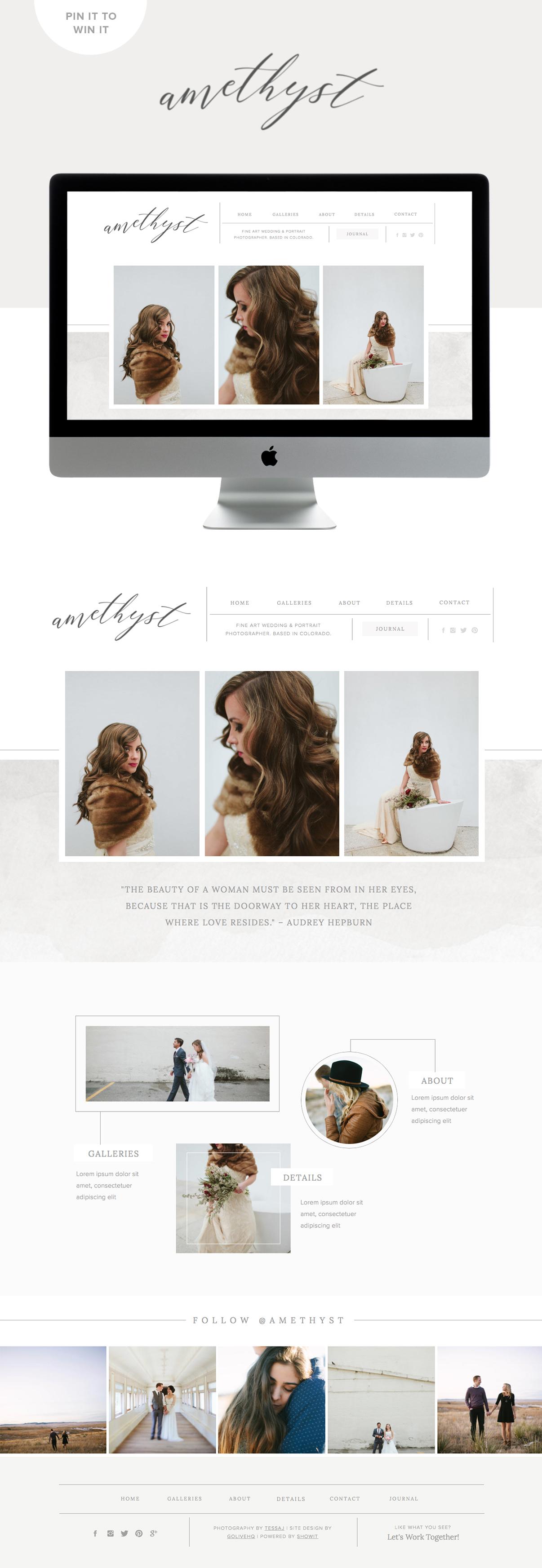 amethyst squarespace & showit website design by golivehq.co