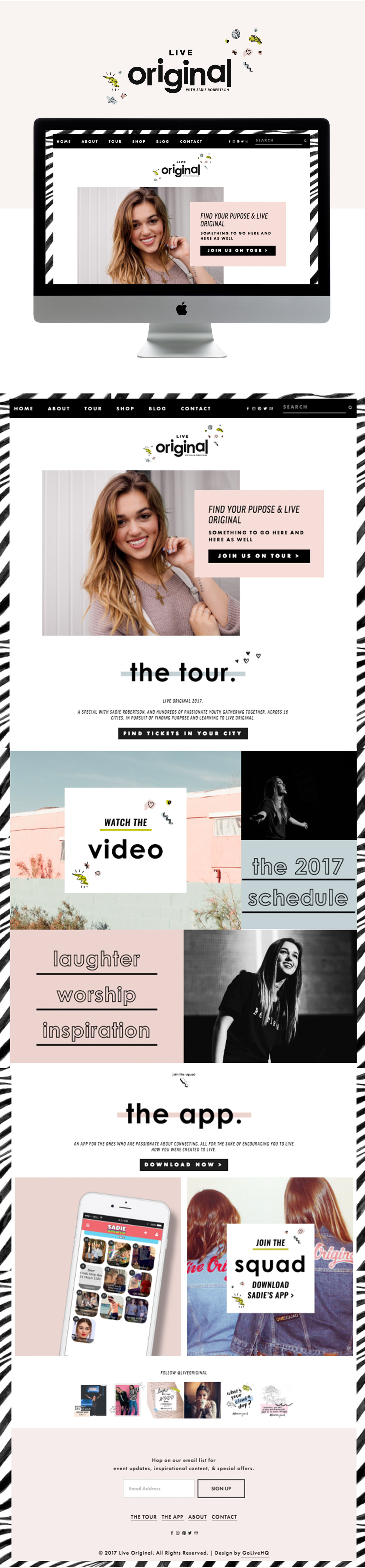 carefree, relaxed and original squarespace website design | designed by: golivehq.co