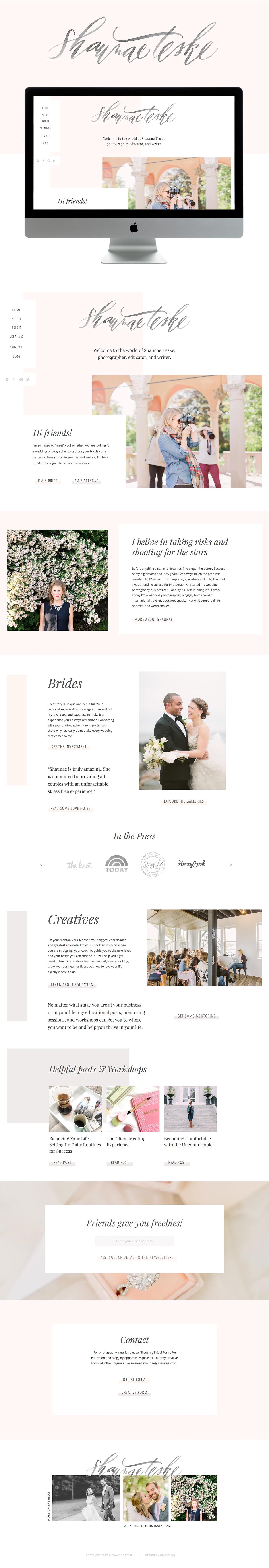 Clean, high-end & light showit website design | designed by: golivehq.co