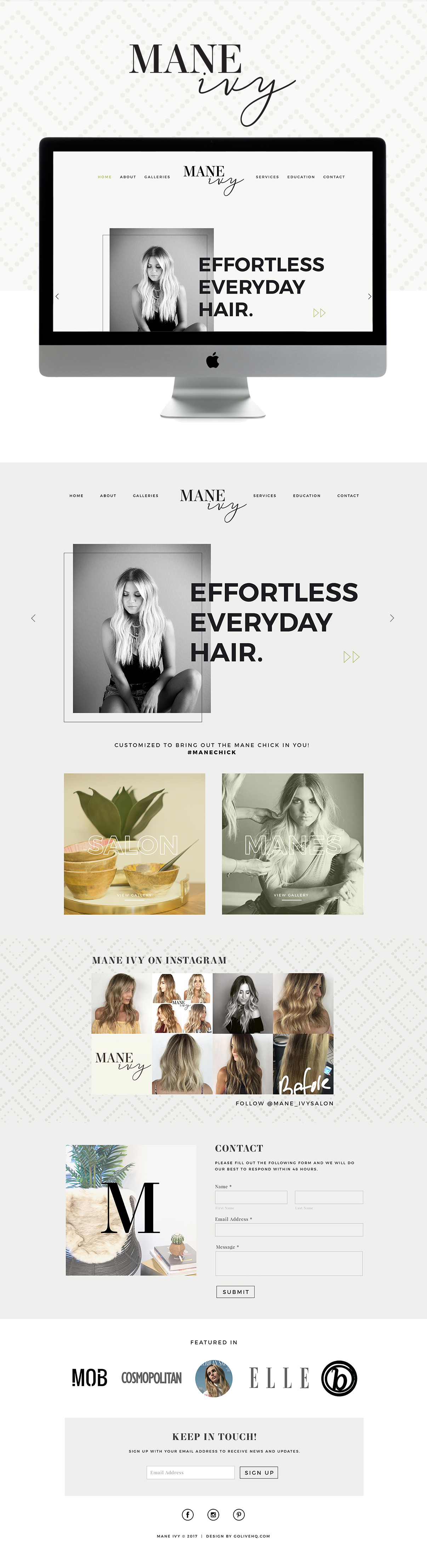 Fun-loving & boho yet high end, chill & clean Squarespace website design | designed by: golivehq.co