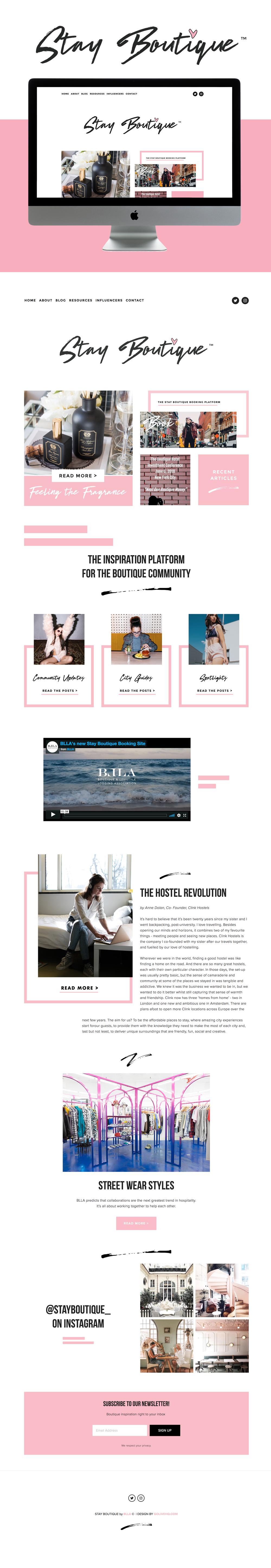 Boutique website inspiration | Go live Hq