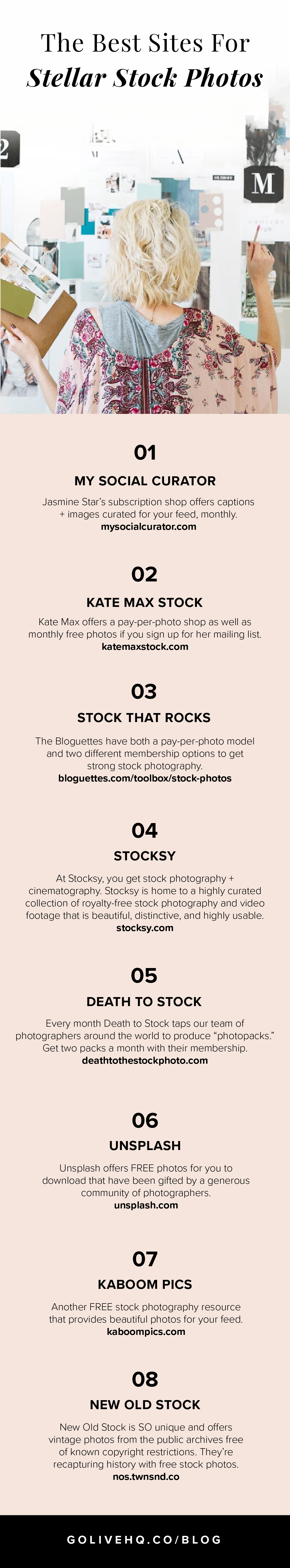 The best modern and stylish stock photography websites by Go Live HQ