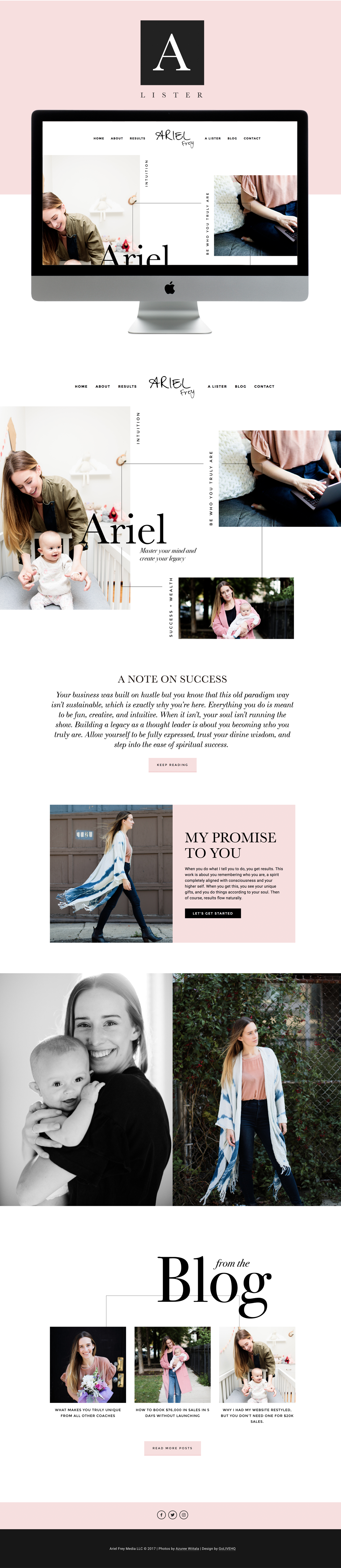 Ariel Frey Is LIVE on Squarespace   By Go Live HQ