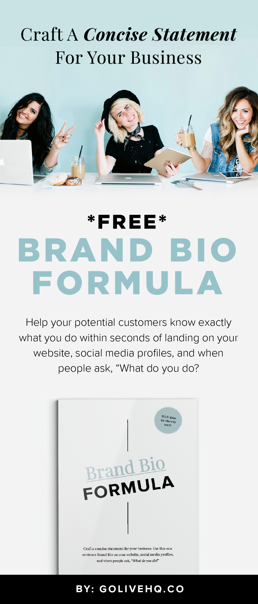 Craft Your Brand Bio | By Go Live HQ