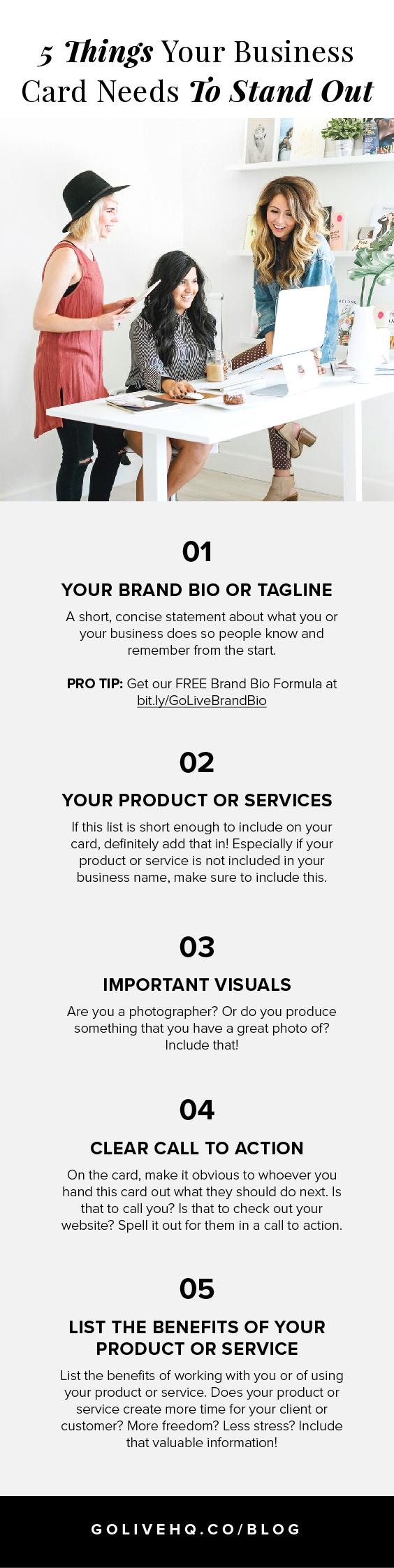 5 Things Your Business Card Needs To Stand Out | By Go Live HQ
