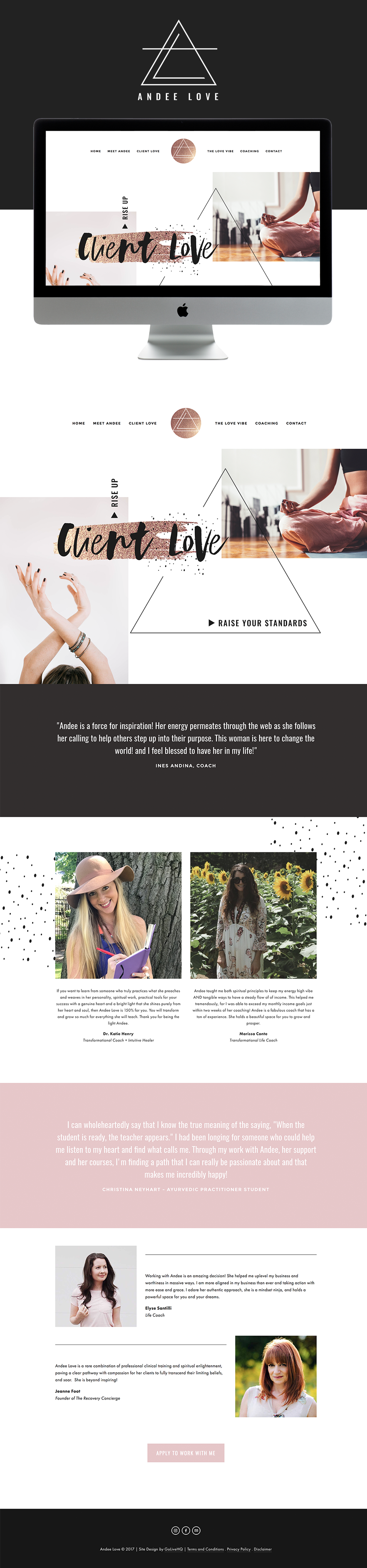 Andee Love Is LIVE on Squarespace   By Go Live HQ