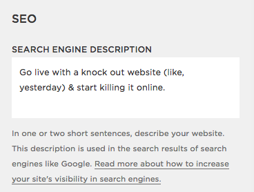 Squarespace Search Engine Optimization | By Go Live HQ