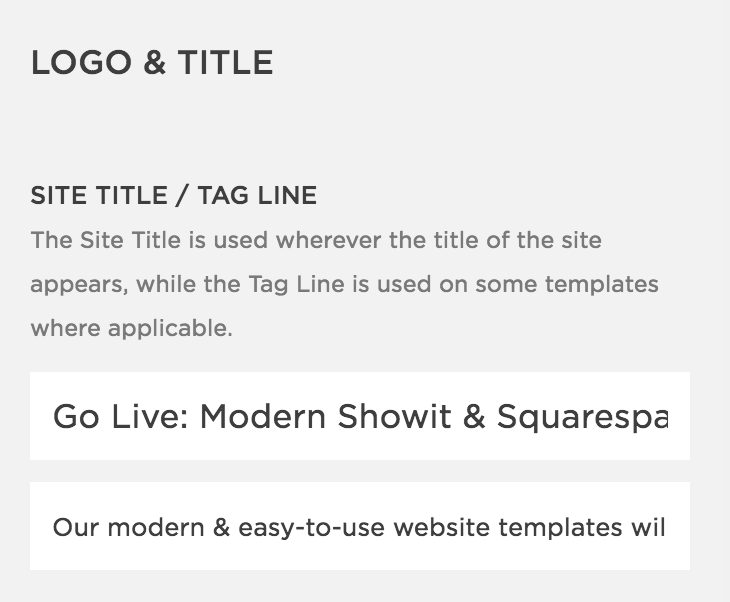 How To Fix Your Squarespace Site Title And Description | By Go Live HQ
