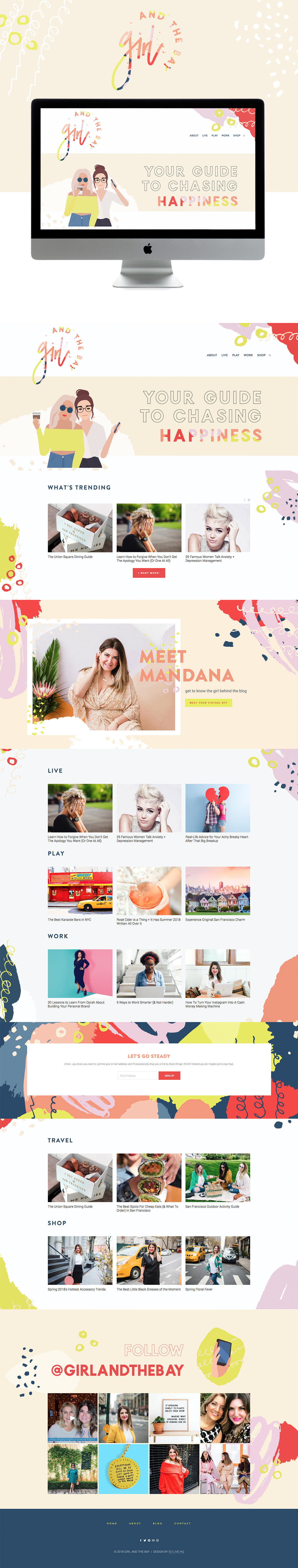 Creative, Colorful Website Design for Lifestyle Blog   Site Design by Go Live HQ