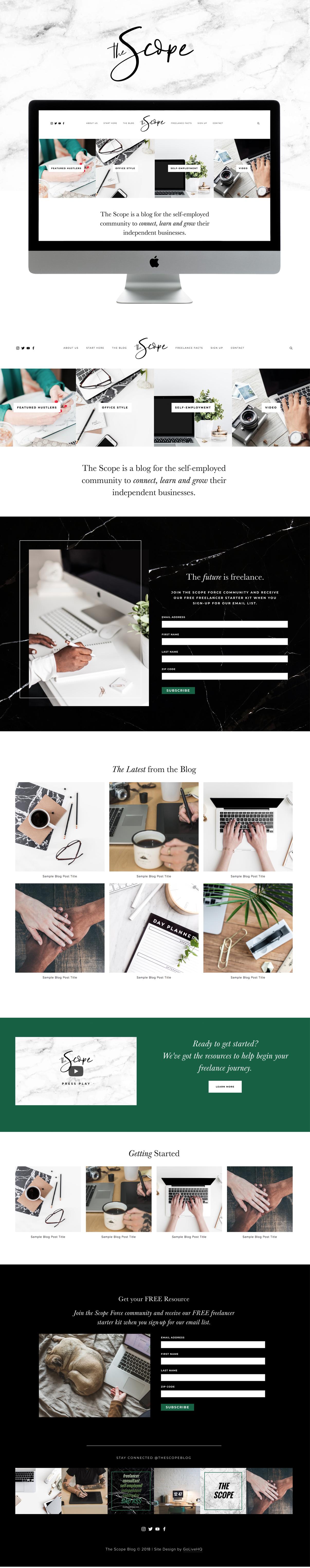 Modern, Professional Website Design for Business | Design by Go Live HQ