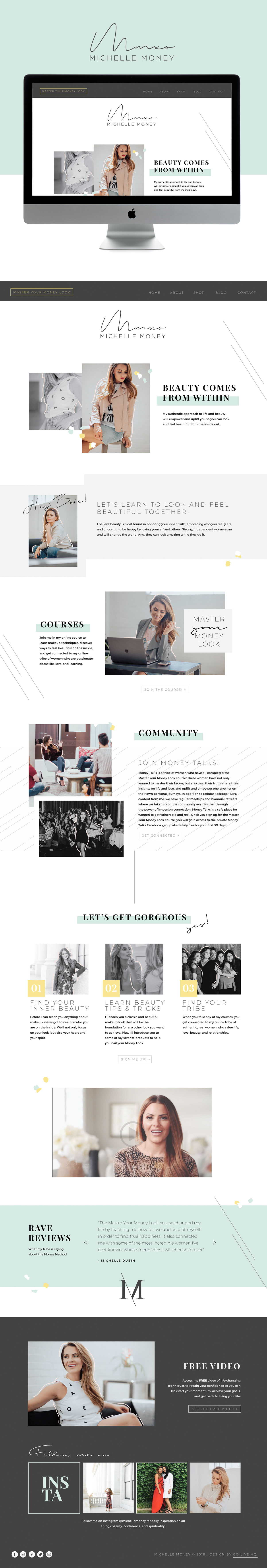 Fun, Bold, High-End Website Design For Speakers and Online Courses By Go Live HQ