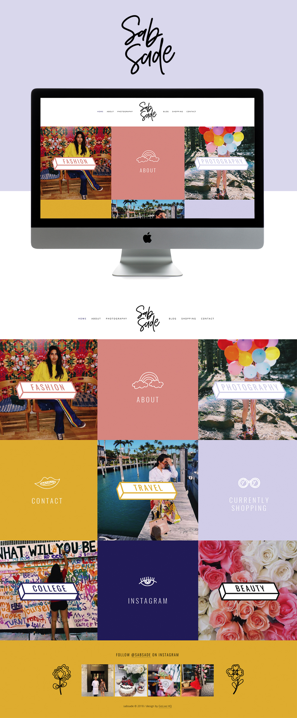 Colorful, Quirky, and Luxurious Website Design for Fashion Blogger | Site Design by Go Live HQ