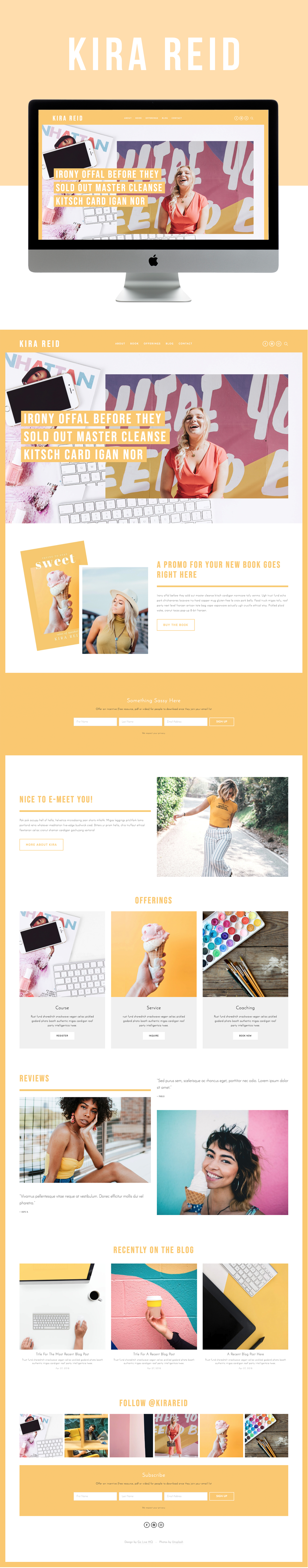 Bright & Fun Website Design for Businesses, Speakers, and Authors | Design by Go Live HQ