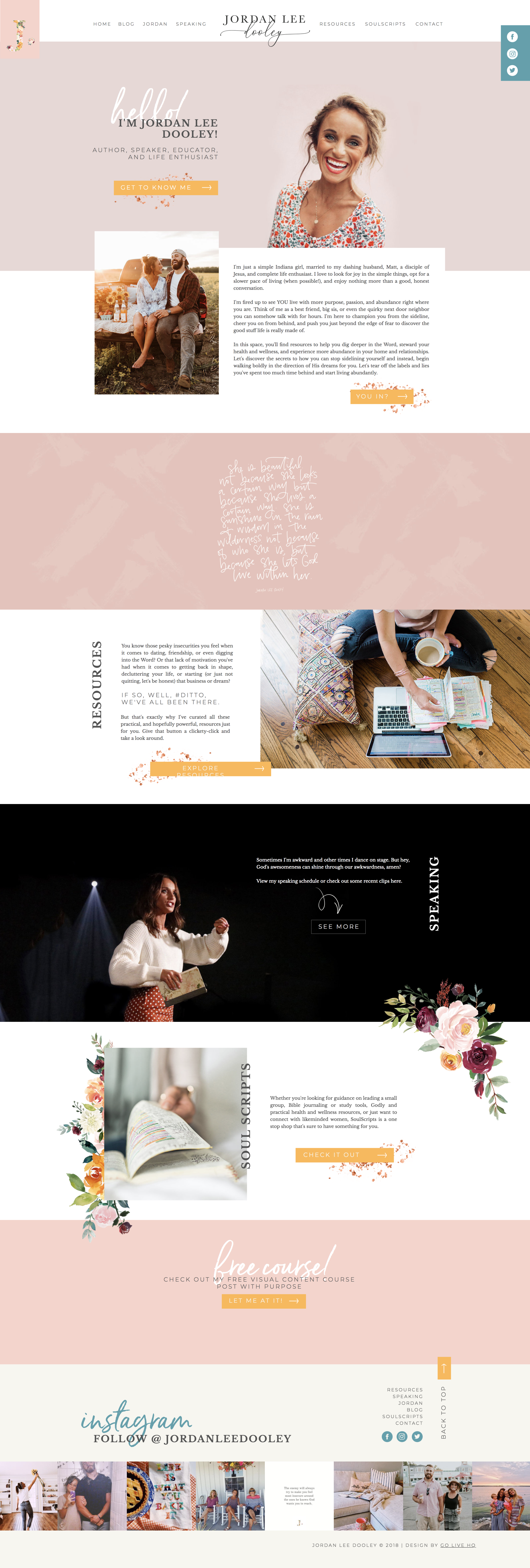 Creative and Colorful Website Design for Christian Speaker | Design by Go Live HQ