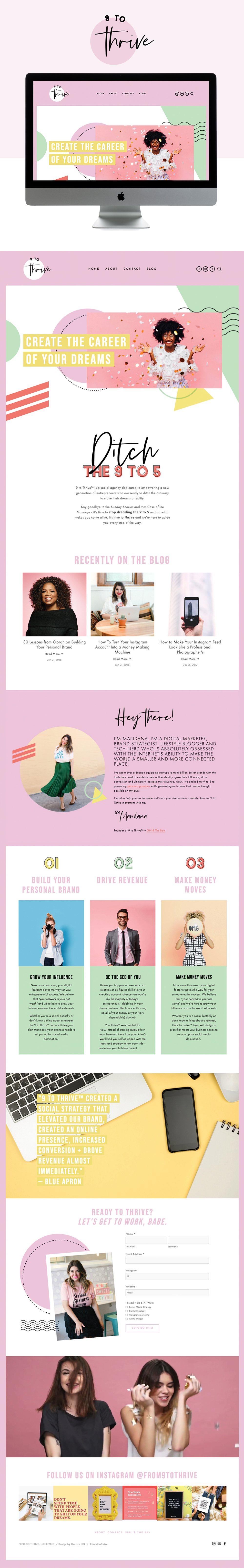 Fun and Colorful Website Design for Social Agency | Design by Go Live HQ